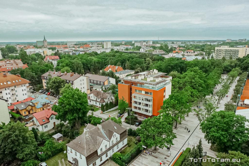 Kołobrzeg panorama z kawiarni Widokówka