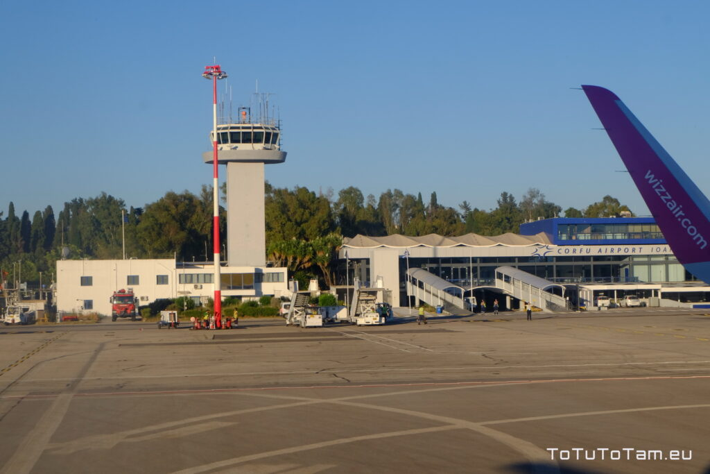 Lotnisko Korfu Grecja