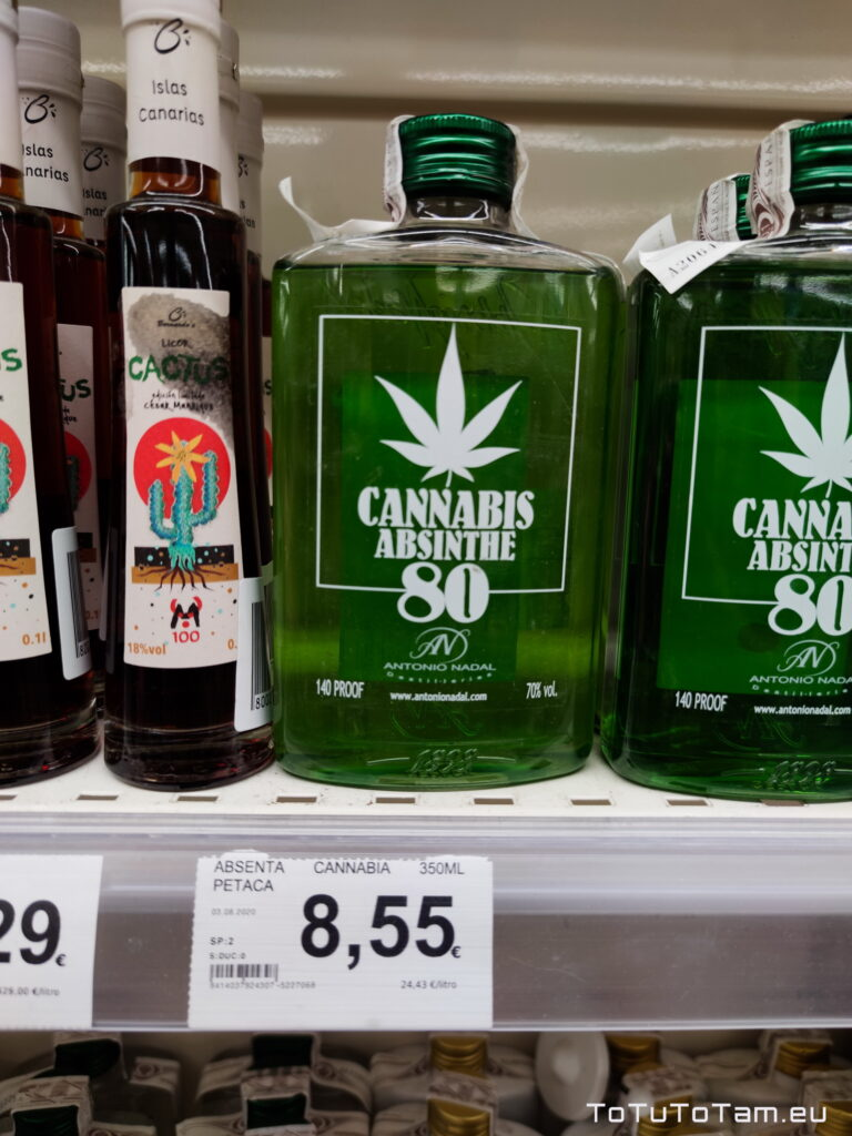 HiperDino Alkohol Ceny na teneryfie